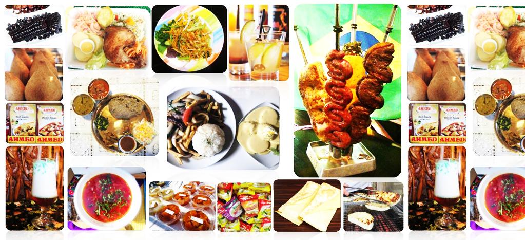 世界の様々な食べ物